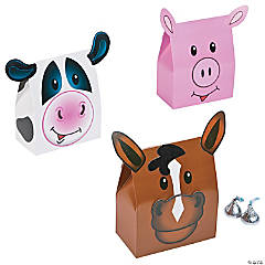 Farm Animal Party Favor Boxes - 12 Pc.