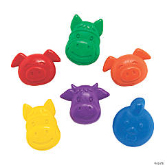 Farm Animal-Shaped Crayons