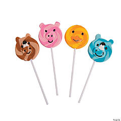 Farm Animal Swirl Pops