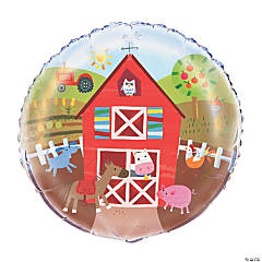 Farm Party Mylar Balloon