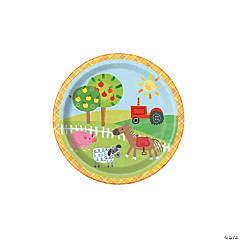 Farm Party Paper Dessert Plates - 8 Ct.