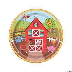 Farm Party Paper Dinner Plates - 8 Ct.