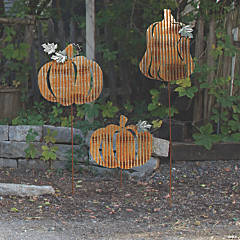 Farmhouse Fall Pumpkin Yard Stakes