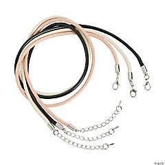 Faux Leather Cording Necklaces