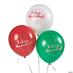 """Feliz Navidad 11"""" Latex Balloons"""