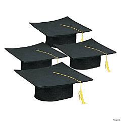 Felt Black Graduation Caps