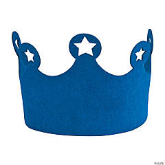 Felt Blue Birthday Crown