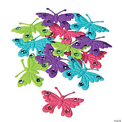 Felt Butterfly Embellishments with Rhinestones