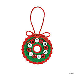 Felt Button Wreath Christmas Craft Kit