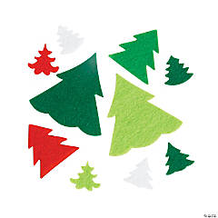 Felt Christmas Tree Self-Adhesive Shapes