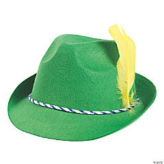 Felt Green Oktoberfest Alpine Hat