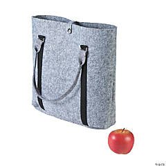 Felt Grey Purse Tote Bag