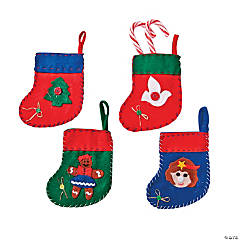 Felt Mini Festive Christmas Stockings