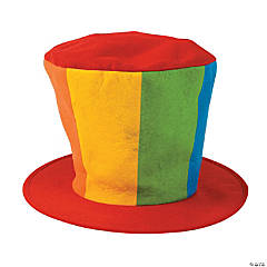 Felt Oversized Clown Top Hat
