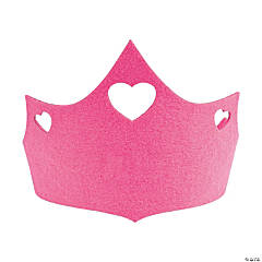 Felt Pink Birthday Crown