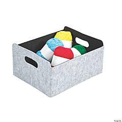 Felt Rectangle Storage Basket with Handles