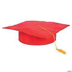 Felt Red Graduation Caps