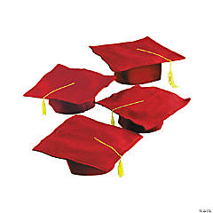 Felt Red Graduation Caps