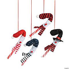 Felt Snowman Candy Cane Cover Christmas Ornaments