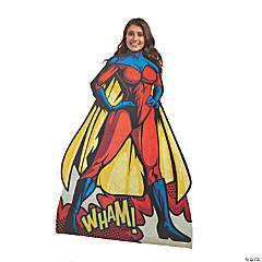 Female Superhero Cardboard Stand-In Stand-Up