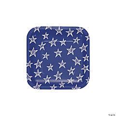 Festive Flag USA Dessert Plates
