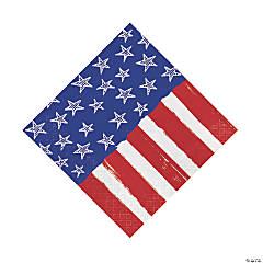 Festive Flag USA Luncheon Napkins