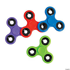 Fidget Spinners with Black Trim Assortment