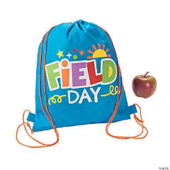 Field Day Medium Drawstring Bags