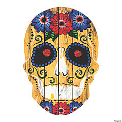 Fiesta Day of the Dead Skull Door Sign
