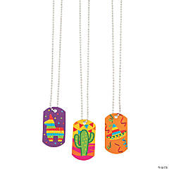 Fiesta Dog Tag Necklaces