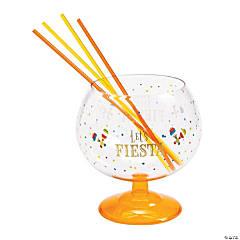Fiesta Fishbowl Glass with Straws