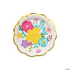 Fiesta Floral Bright Paper Dessert Plates - 8 Ct.