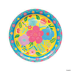 Fiesta Floral Bright Paper Dinner Plates - 8 Ct.