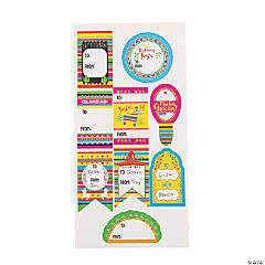 Fiesta Gift Tag Stickers