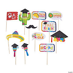 Fiesta Graduation Photo Stick Props