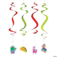 Fiesta Hanging Swirl Decorations - 12 Pc.