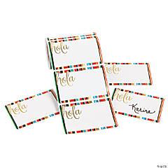 Fiesta Hola Sarape Print Name Tags