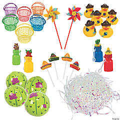 Fiesta May Day Basket Kit for 12