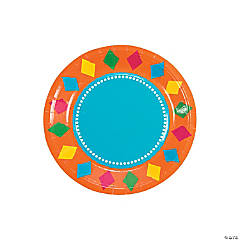 Fiesta Party Paper Dessert Plates - 8 Ct.