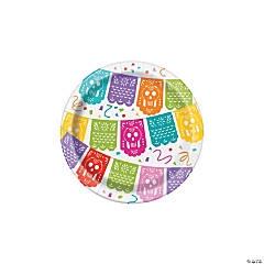 Fiesta Piñata Paper Dessert Plates - 8 Ct.