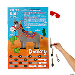Fiesta Pin the Tail on the Donkey Game
