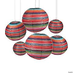 Fiesta Sarape Hanging Paper Lanterns