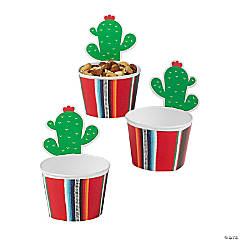 Fiesta Serape Snack Cups with Cactus