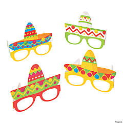 Fiesta Sombrero Party Glasses