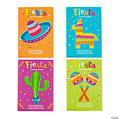 Fiesta Sticker by Number Cards