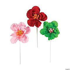 Fiesta Tissue Flower Sticks