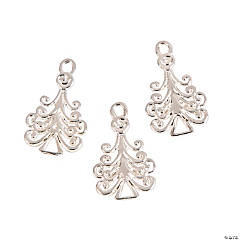 Filigree Christmas Tree Charms