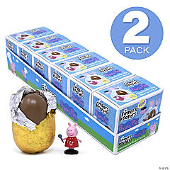 FINDERS KEEPERS Peppa Pig Milk Chocolate Candy Egg & Toy Surprise, 6 Count