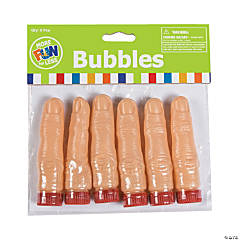 Finger-Shaped Bubble Bottles