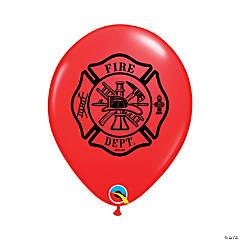 "Fire Department 11"" Latex Balloons"